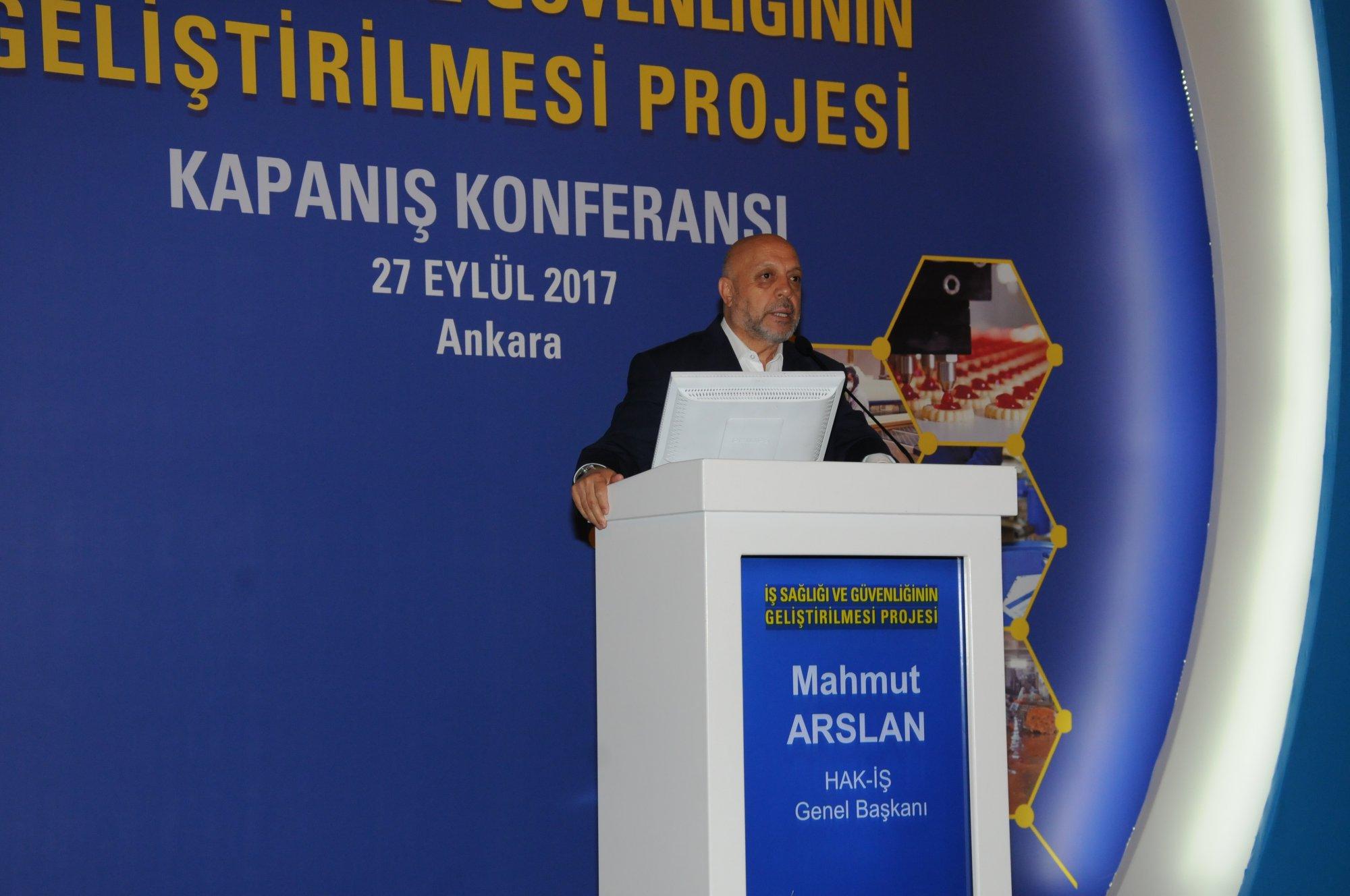 ARSLAN, İSGİP KAPANIŞ TOPLANTISINA KATILDI