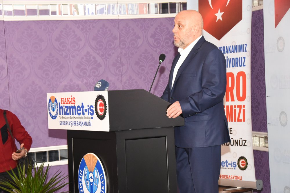 ARSLAN, HİZMET-İŞ SAKARYA ŞUBESİ GENEL KURULUNA KATILDI