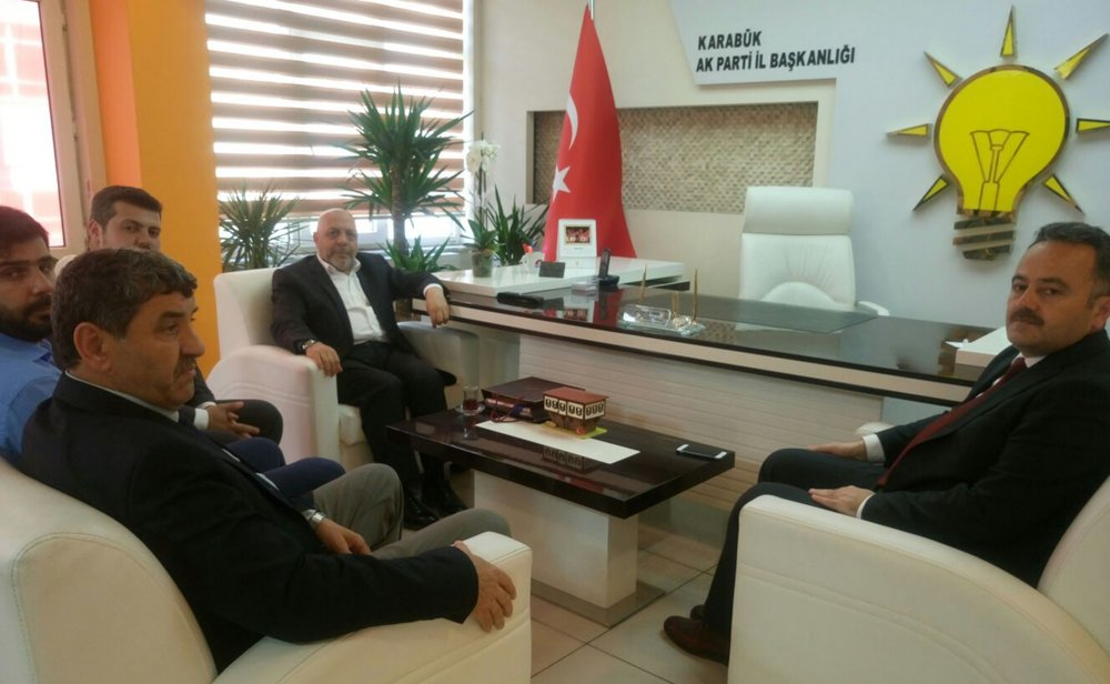 ARSLAN'DAN AK PARTİ KARABÜK İL BAŞKANLIĞINA ZİYARET