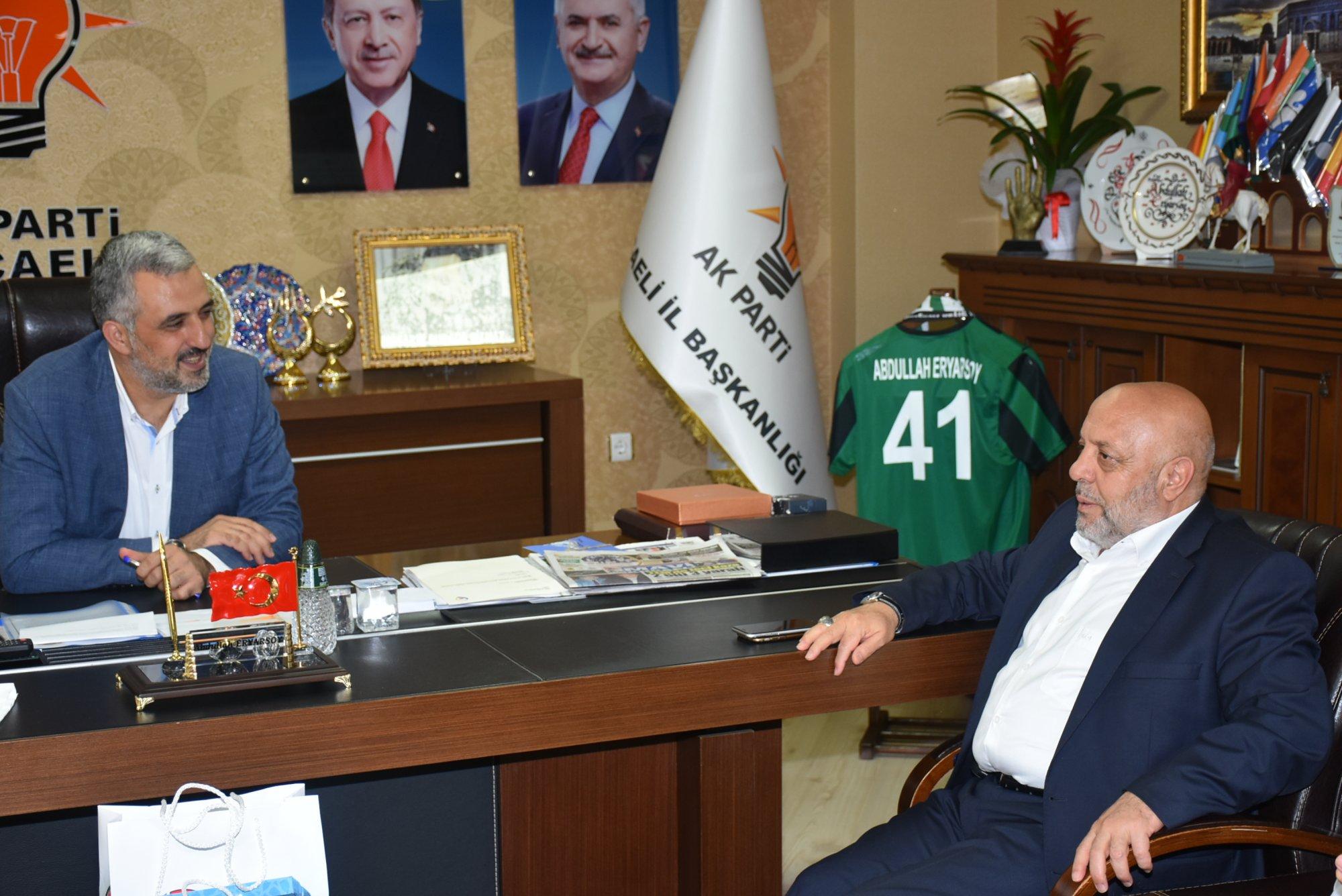 ARSLAN'DAN AK PARTİ KOCAELİ İL BAŞKANLIĞI'NA ZİYARET
