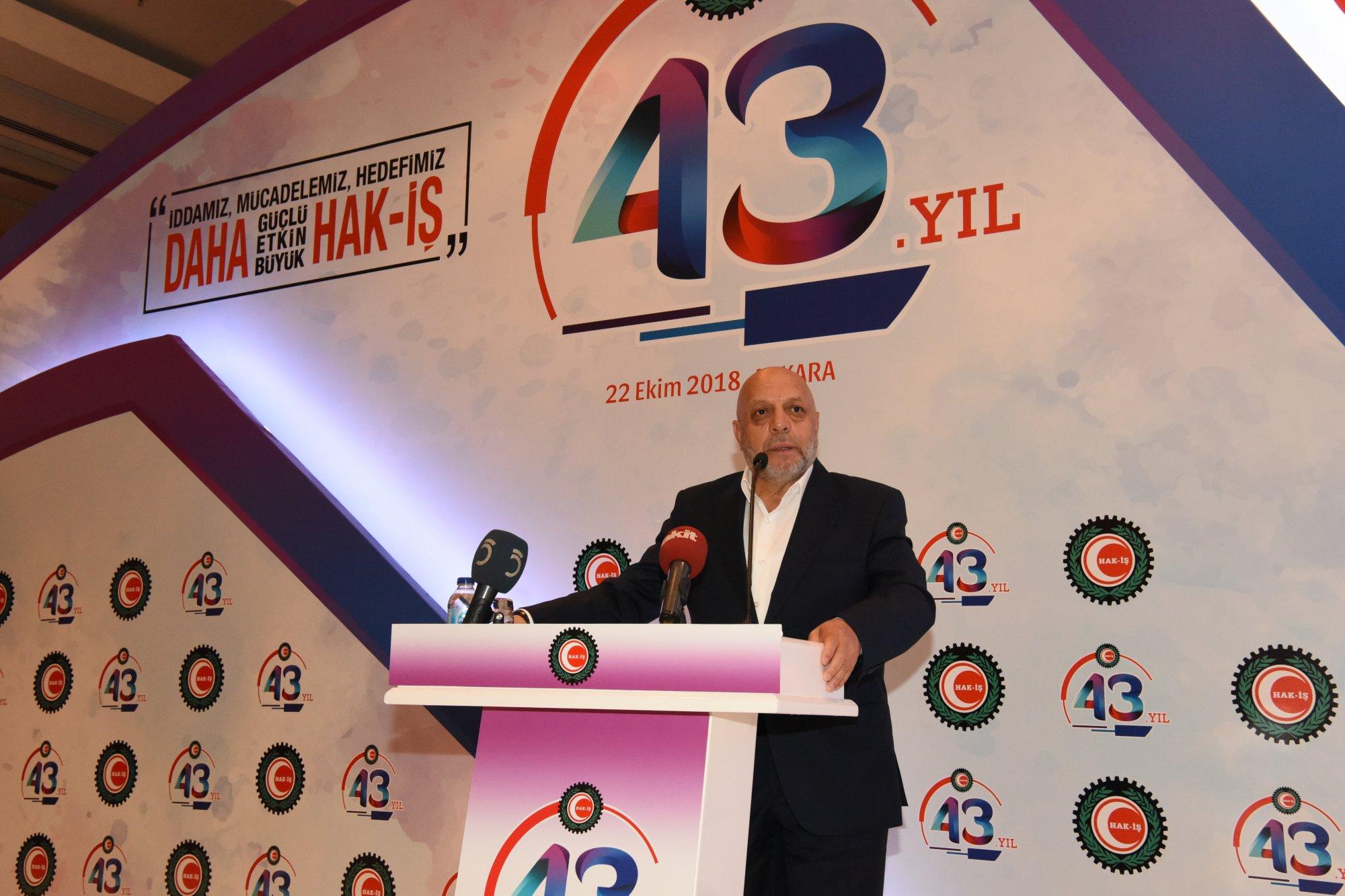 HAK-İŞ'İN ONURLU MÜCADELESİNDE 43. YIL