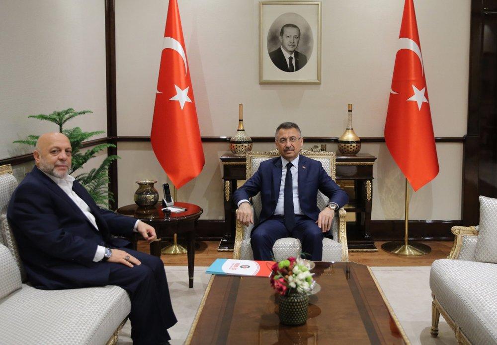 ARSLAN, CUMHURBAŞKANI YARDIMCISI OKTAY'I ZİYARET ETTİ