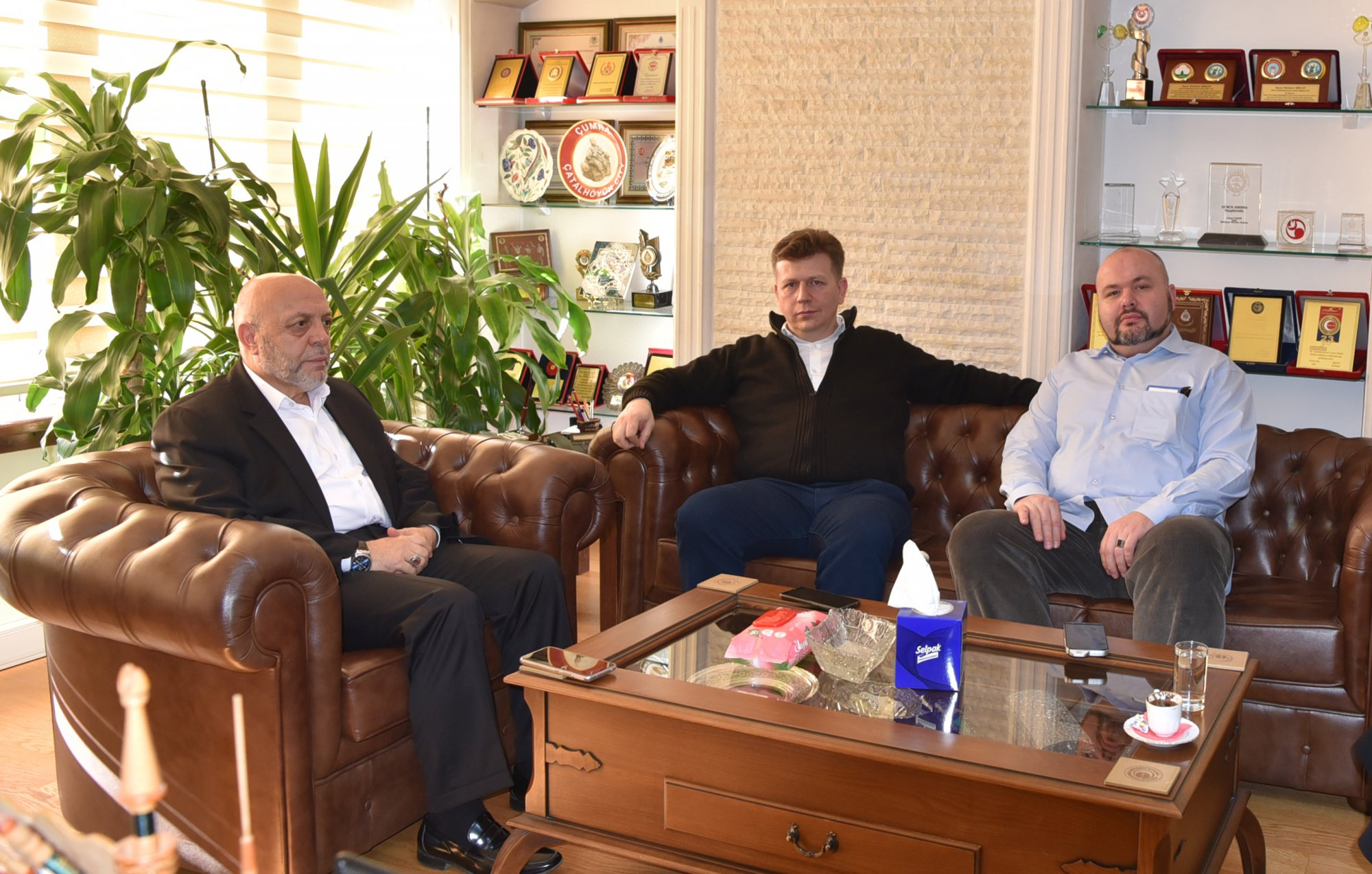 ARSLAN, BOSNA HERSEK'Lİ SENDİKACILARI AĞIRLADI