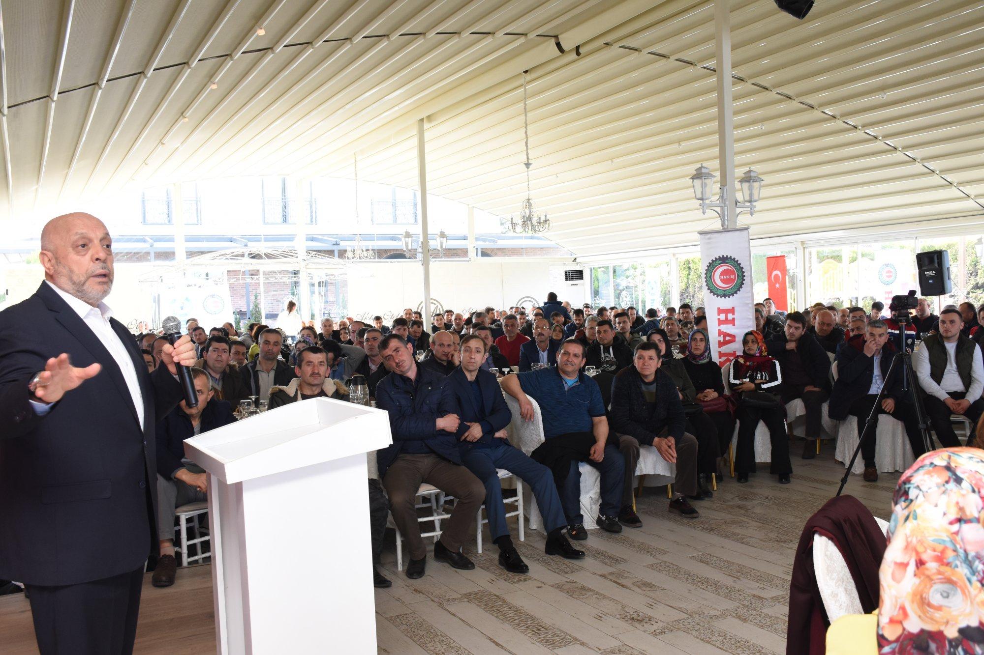ARSLAN, ORDU'DA HAK-İŞ TEMSİLCİLER TOPLANTISI'NA KATILDI
