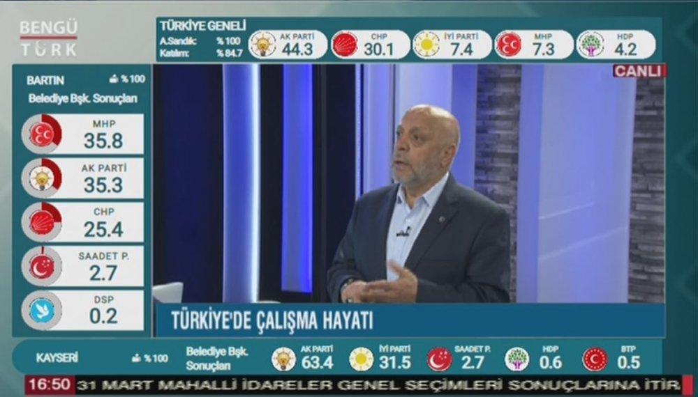 ARSLAN BENGÜTÜRK TV'NİN CANLI YAYIN KONUĞU OLDU