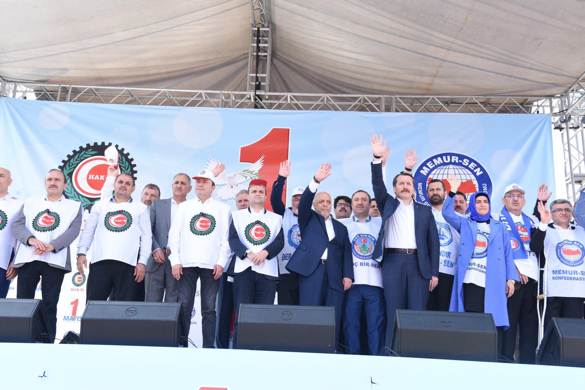 1 MAYIS'TA ALANLARDAYDIK  ŞANLIURFA'DA İSTANBUL'DA, BOLU'DA VE TÜM TÜRKİYE'DE