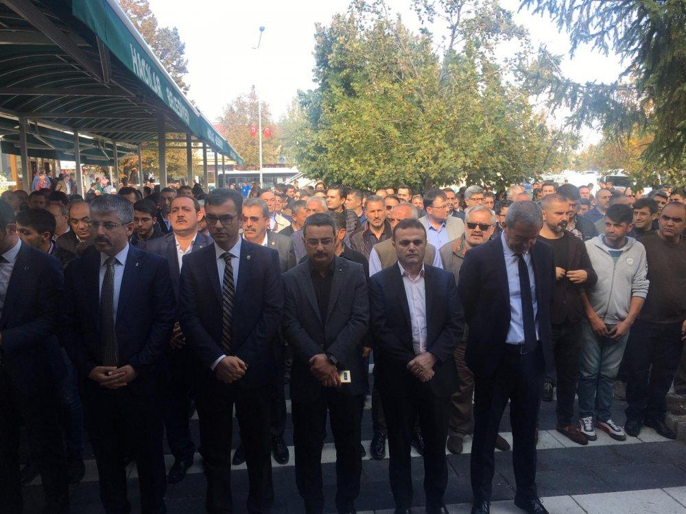 YILDIZ, KAYSERİ'DE CENAZE TÖRENİNE KATILDI