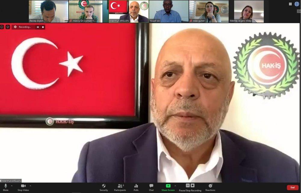 ARSLAN, SWTUF GENEL BAŞKANI ABDÜLKERİM'LE DAYANIŞMA TOPLANTISINDA BİR ARAYA GELDİ