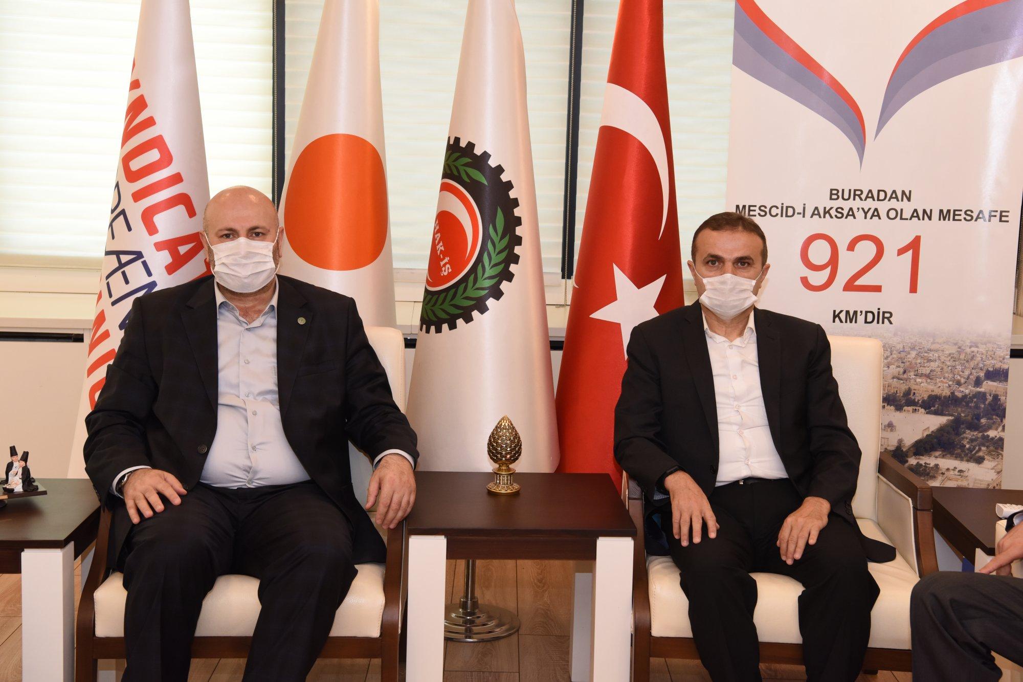 YILDIZ, ORMAN MÜHENDİSLERİ ODASI BAŞKANI TÜRKYILMAZ'I AĞIRLADI