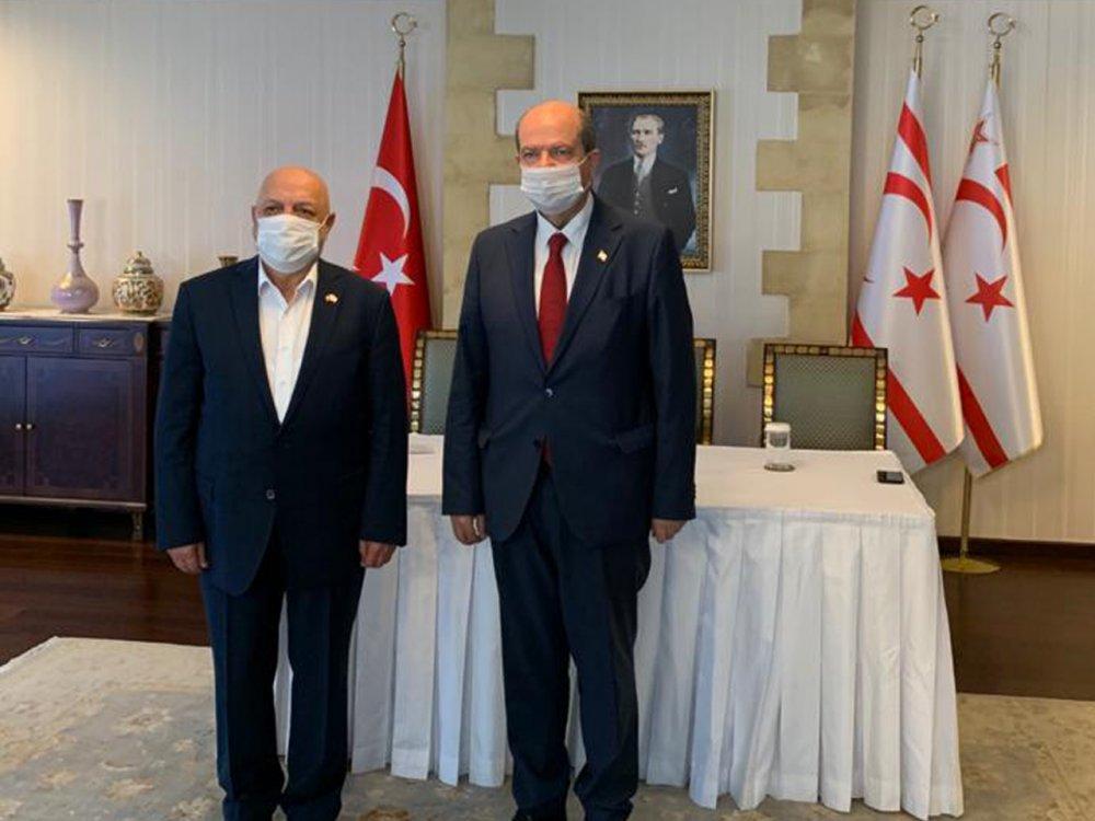 ARSLAN'DAN KKTC CUMHURBAŞKANI TATAR'A HAYIRLI OLSUN ZİYARETİ