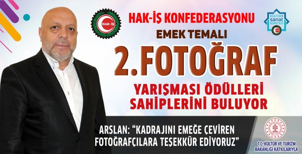 HAK-İŞ EMEK TEMALI 2. FOTOĞRAF YARIŞMASI ÖDÜLLERİ SAHİPLERİNİ BULUYOR